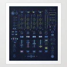 DJ Mixer Art Print