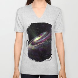 Unicorn Head Galaxy Unisex V-Neck