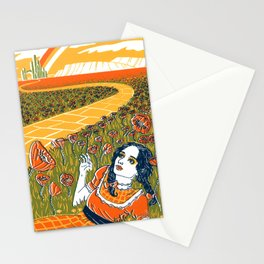 Dorothy in the Poppy Field Stationery Cards
