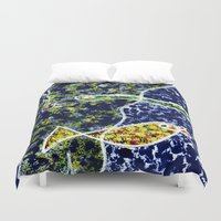 under the sea Duvet Covers featuring Sea Snake Under the Sea  by Geckojoy