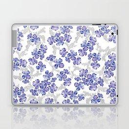 Hydrangea Blooms in Purple Laptop & iPad Skin
