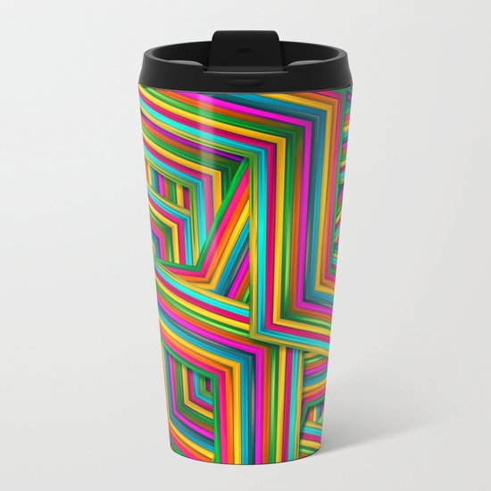 Therapist Pattern Metal Travel Mug