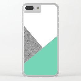 Concrete vs Aquamarine Geometry Clear iPhone Case