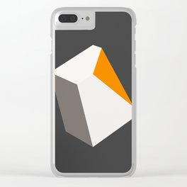 Broken Cube Clear iPhone Case