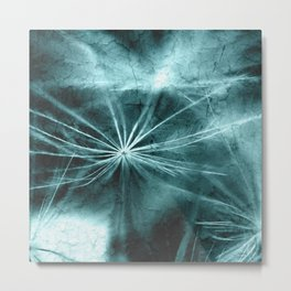 Dandelion Art Picture Metal Print