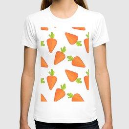 carrot pattern T-shirt