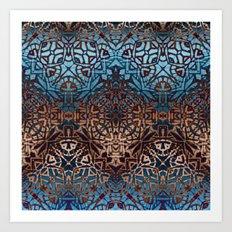 Ethnic Tribal Pattern G329 Art Print