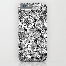 Candy flowers in black iPhone 6s Slim Case