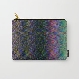 Broken pixels glitch. Television signal fail. Carry-All Pouch
