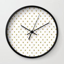 Polka Gold Wall Clock