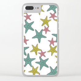 starfish tropical print Clear iPhone Case
