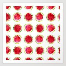 Watercolor watermelon fruit illustration Art Print