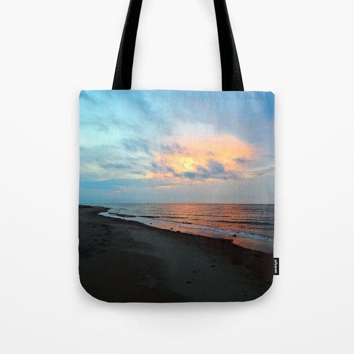 PEI Sandy Beach Sunset Tote Bag