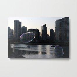 Bubbles Over Vancouver Metal Print
