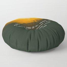 King of My Heart Floor Pillow