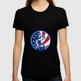 American Farrier USA Flag Icon T-shirt
