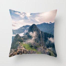 Mountain Peru Throw Pillow