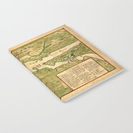 Map Of New York 1639 Notebook
