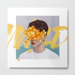 """ Flower Man "" Metal Print"