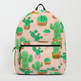 Potted Cactus & Pink Drawing Backpack