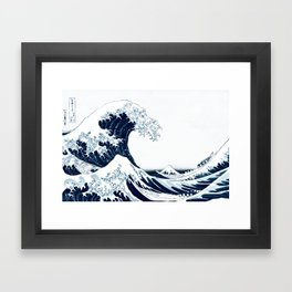 The Great Wave - Halftone Framed Art Print