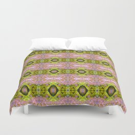 Eccentric purple and yellow pattern Duvet Cover