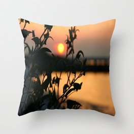 Sunset at the Bay Throw Pillow
