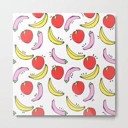 Fruit and Veggie pattern Metal Print