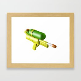 Water Gun Framed Art Print