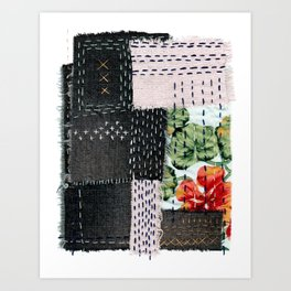 Boro Kantha Textile Art 3 Art Print