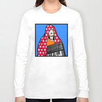 lichtenstein Long Sleeve T-shirts featuring Röyksopp Forever Roy Lichtenstein Inspired Portrait 2 by Alli Vanes