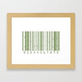 Bamboo Barcode Framed Art Print
