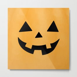 Happy Jack-O-Lantern Metal Print