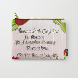Red, Rose And pink With Quote Carry-All Pouch