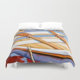 Row Boat Too Duvet Cover