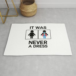 It Was Never A Dress Toilet Women Sign Superhero Rug