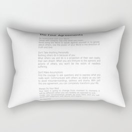 The Four Agreements #blackwhite #minimalism Rectangular Pillow