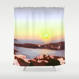 Sunset in Ios Shower Curtain