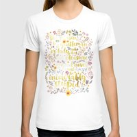 jane austen T-shirts featuring Jane Austen - Intolerably Stupid Gold Foil by Evie Seo
