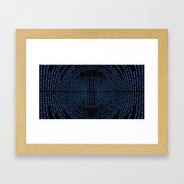 Binary Code Framed Art Print