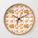 Watercolour Pumpkin Turkey Pattern Happy Thanksgiving by art4sharing