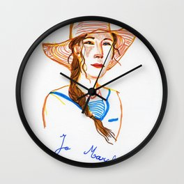 Jo March Wall Clock