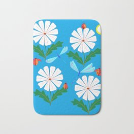 White Spring Daisies, Dragonflies, Lady Bugs and the Sun Bath Mat