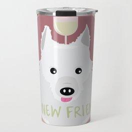 no new friends Travel Mug