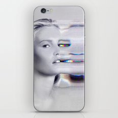 Glitch Face Melt iPhone & iPod Skin