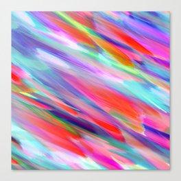 Colorful digital art splashing G399 Canvas Print