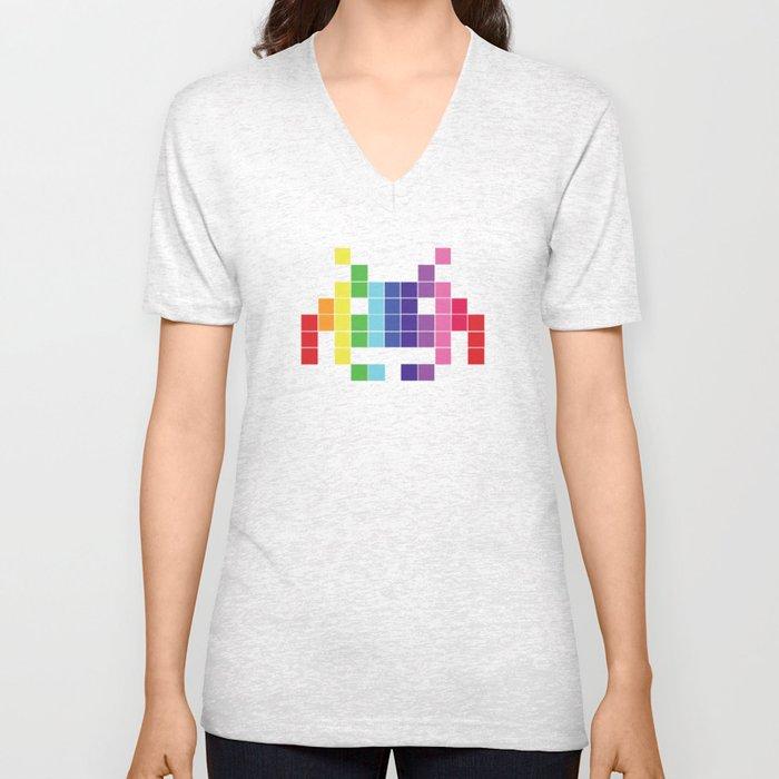 Face The Rainbow Unisex V-Neck