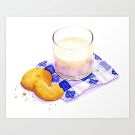 Milk & Cookies Art Print