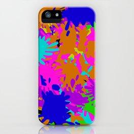 Splatoon Ink Fight Pattern iPhone Case