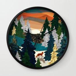 Amber Fox Wall Clock